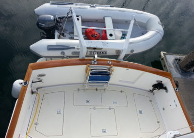 The aft cockpit on Splendido
