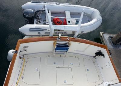 The aft cockpit on Splendido