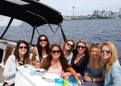 Under sailing and heeling to starboard, Seattle Sailing Charters is an adventure!