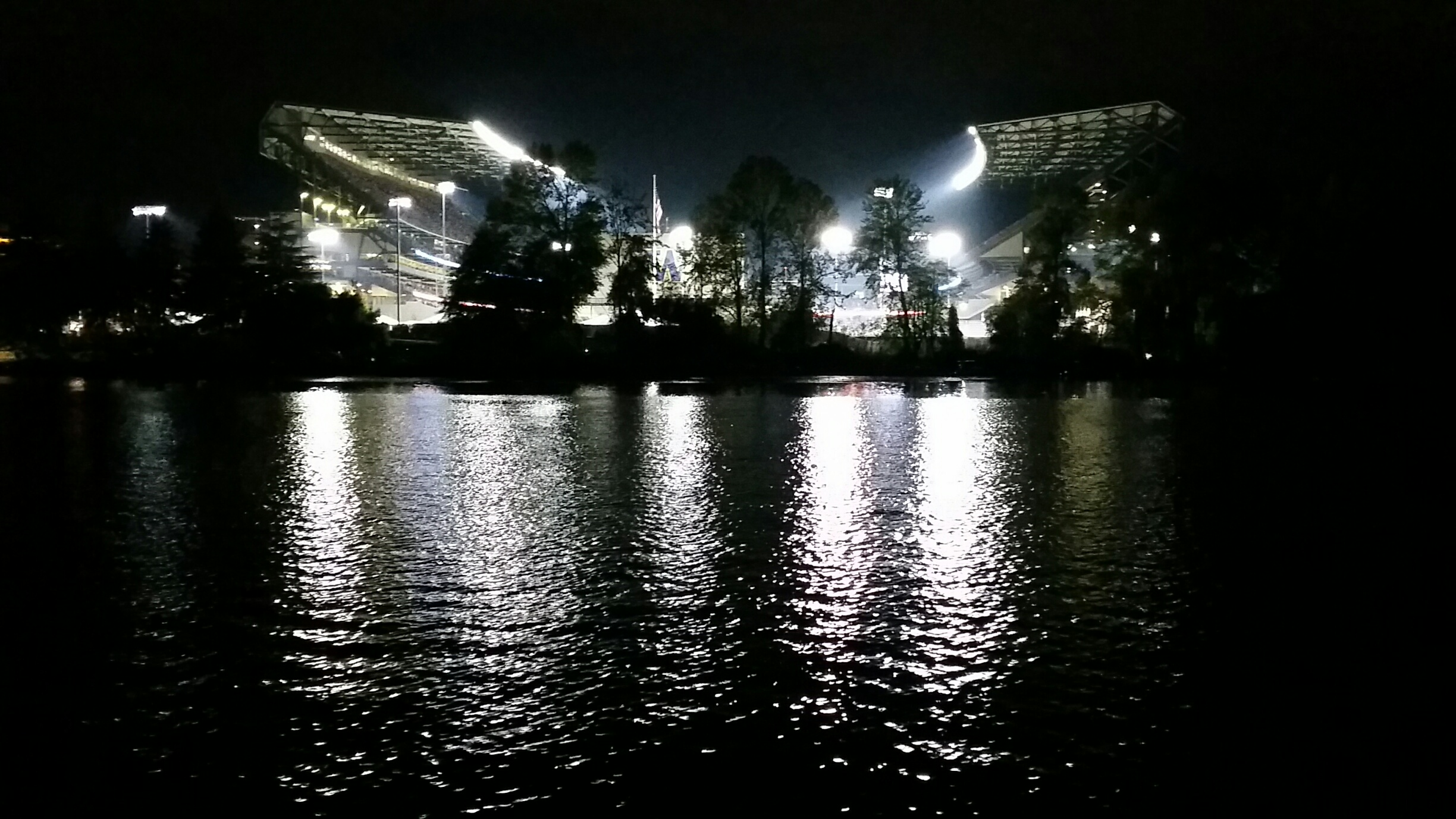 Heading home from Sailgating at Husky Stadium