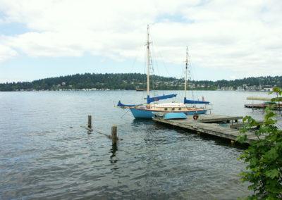 Bimi at her home in Lake Washington