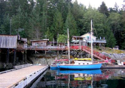 Bimi at Refuge Cove in BC