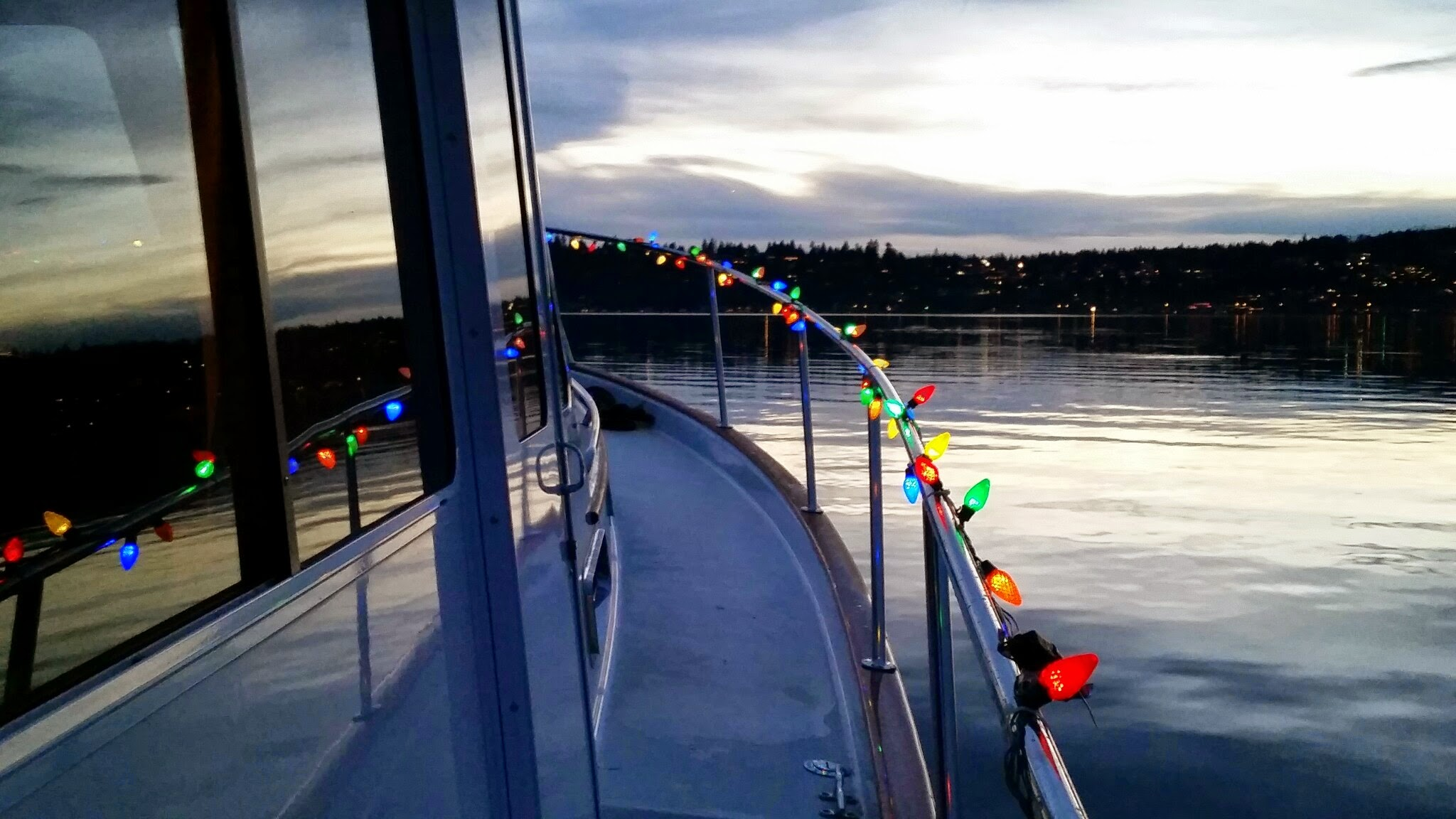 Seattle Sailing Charters - Getting dressed up for Christmas cruise.