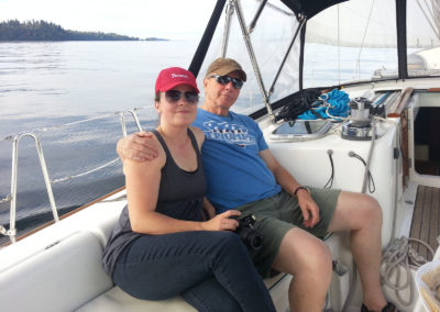 Fun times on a sailing charter